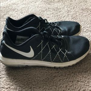 Black nike running shoes!